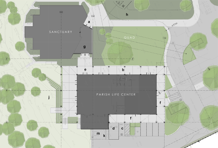 1702 PARISH LIFE CENTER SITE PLAN